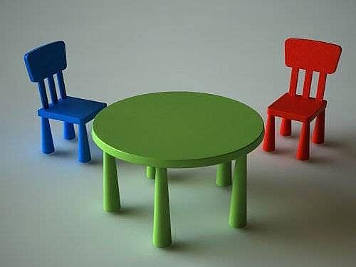 Çocuk Odaları için Masa Sandalye Takımı 6