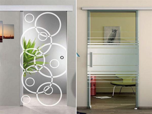 dekoratif desenli cam kapı