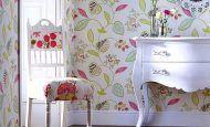 Çarpıcı Renkli Duvar Kağıt Desenleri
