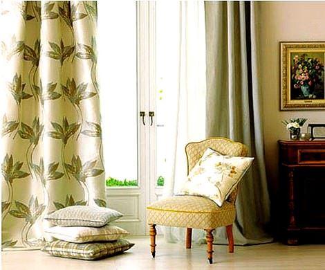 persan misafir odası perde modelleri
