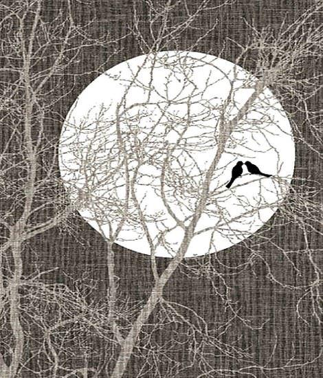 ay desenli üç boyutlu halı