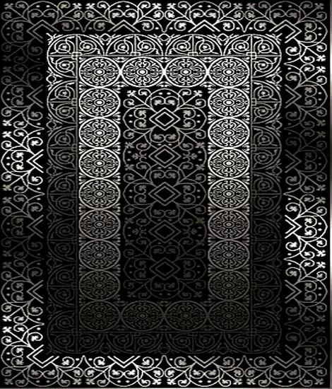 siyah üç boyutlu halı