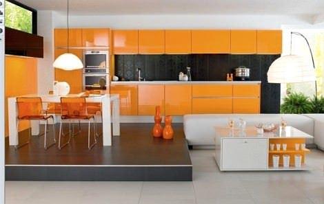 turuncu renkli ev dekorasyon