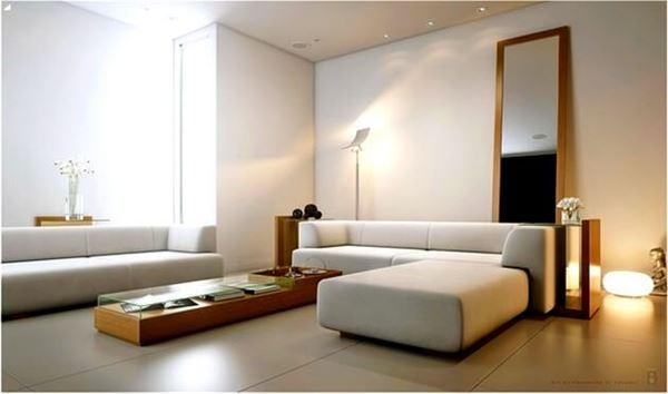 beyaz dekore edilmiş misafir odası
