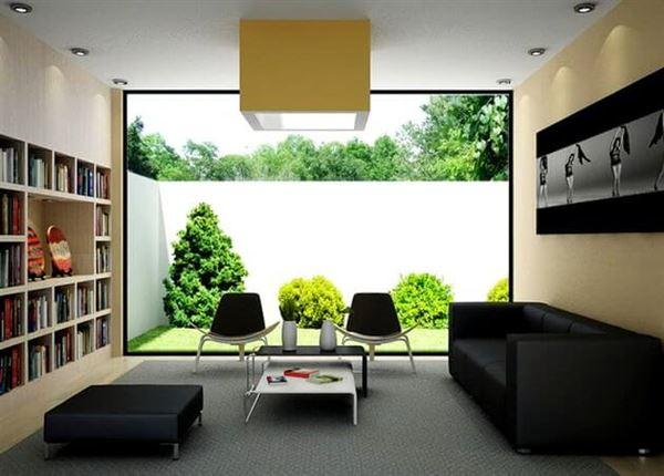 modern misafir odası dekorasyon