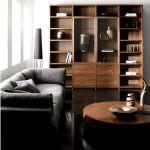 modern ceviz renk vitrin yeni trend modern oturma odası fikirleri
