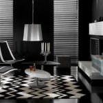 siyah dekorasyonlu oda yeni trend modern oturma odası fikirleri