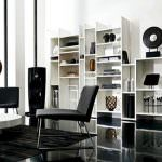 açık renk raf sistemi yeni trend modern oturma odası fikirleri