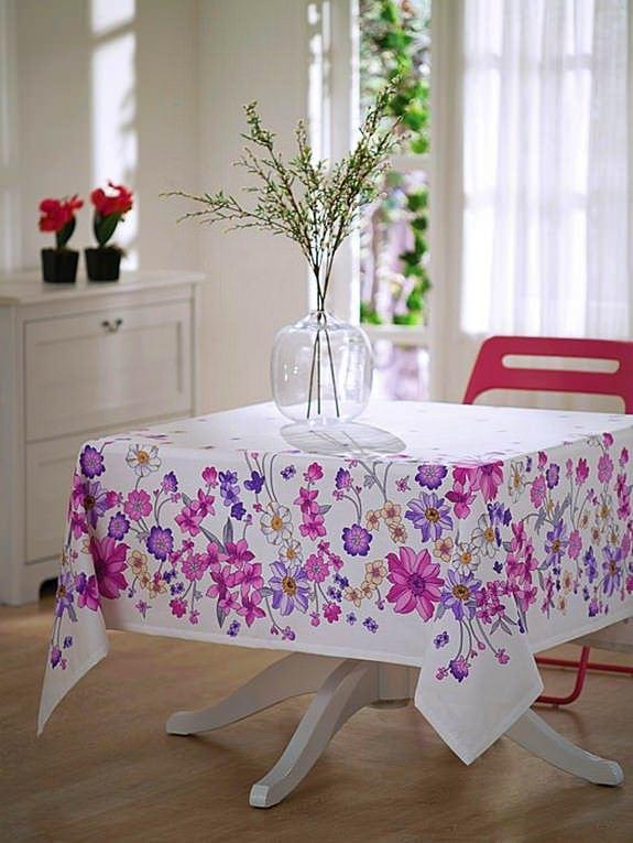 Renkli Desenli Masa Örtüsü Modelleri 7