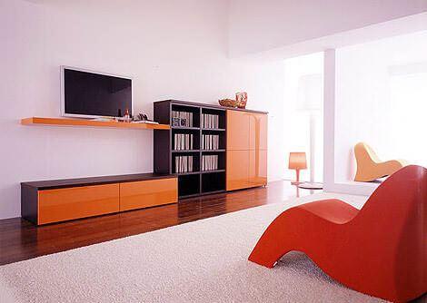 turuncu tv ünite modeli yeni model tv duvar Ünite modelleri - turuncu tv duvar unitesi - Yeni Model Tv Duvar Ünite Modelleri