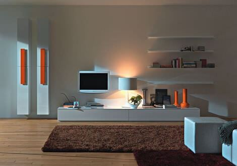 yeni tasarım duvar tv üniteleri