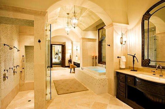 akdeniz stili dekorasyon fikirleri - hamam usulu banyo