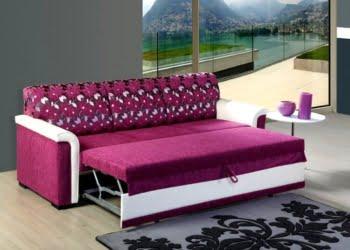 lila yataklı kanepe