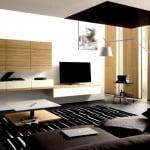 modern lüks oturma odası dekoru