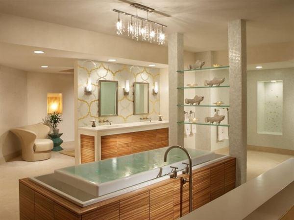 lüks tasarımlı banyo dekorasyon