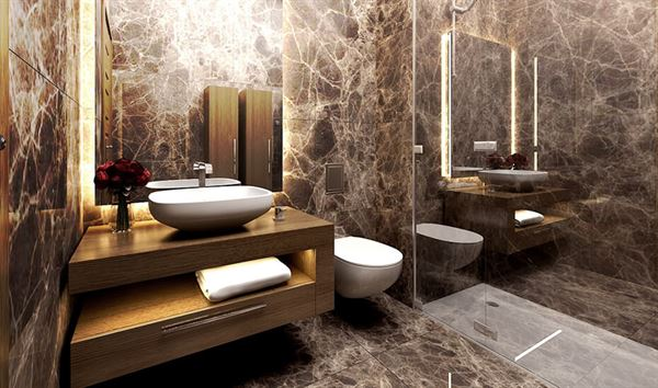 lüks granitli banyo