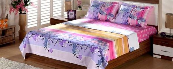 yazlık yatak odası çarşaf takımı