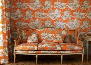 turuncu desenli duvar kağıt