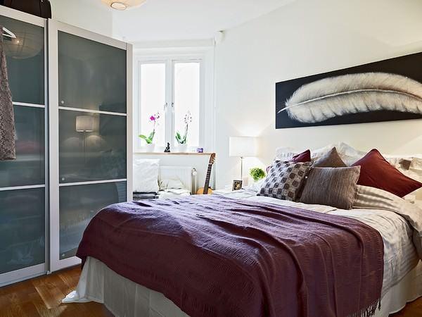 ufak yatak odası sürgülü gardırop