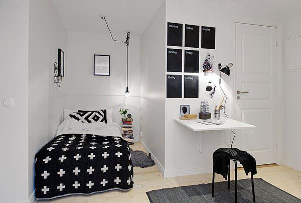 dekoratif küçük yatak odası