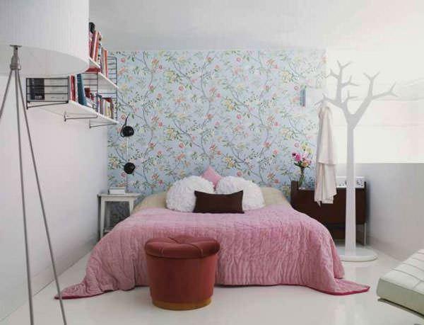 küçük yatak odası duvar kağıtları