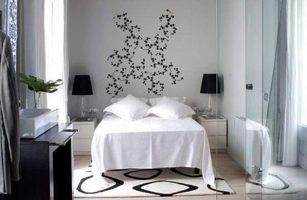 küçük yatak odası duvar süsleme