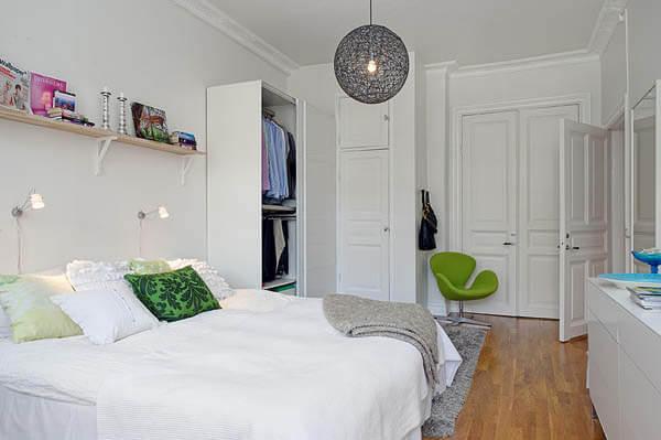 küçük yatak odası dizaynı