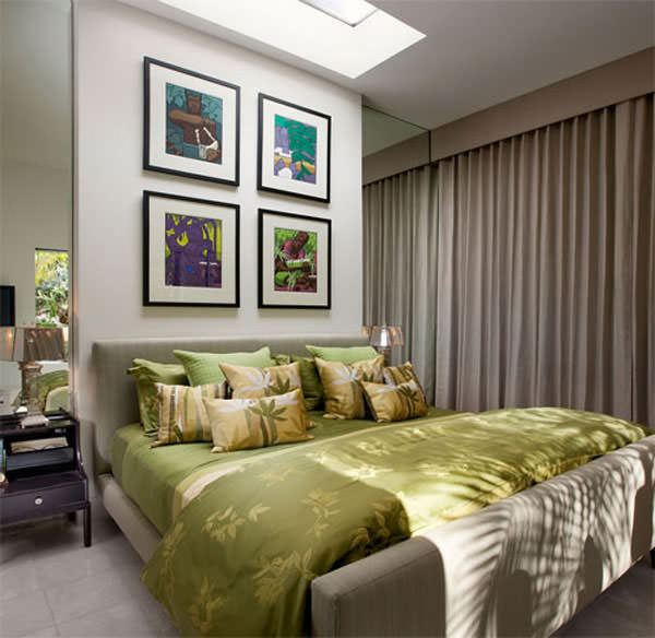 ufak yatak odası dekorasyon