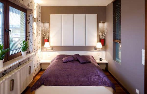 modern küçük yatak odası