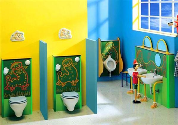 Şirin Çocuk Banyosu Dekorasyon Fikirleri 21