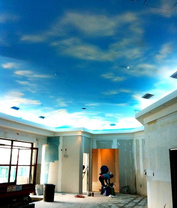 Gökyüzünü Andıran Tavan Dekorasyonları 6