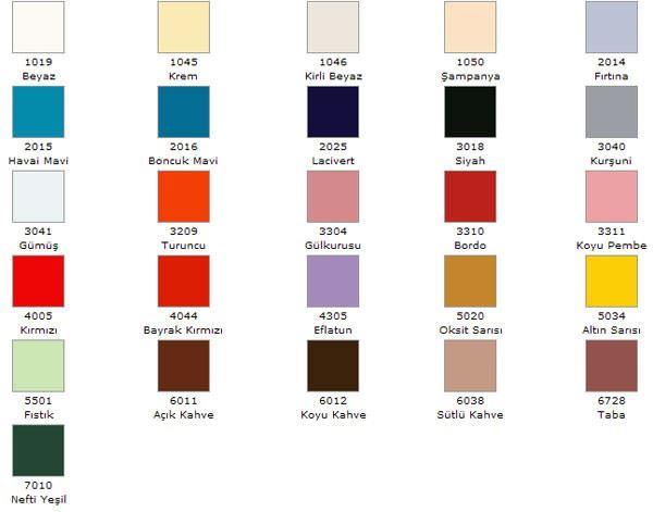 Marshall Boya Hijyen Renkleri 31
