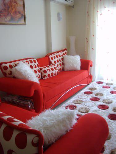 kırmızı koltuk kombinleri