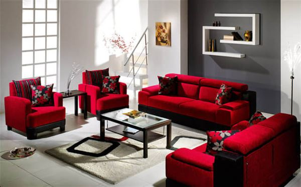 kırmızı oturma grubu