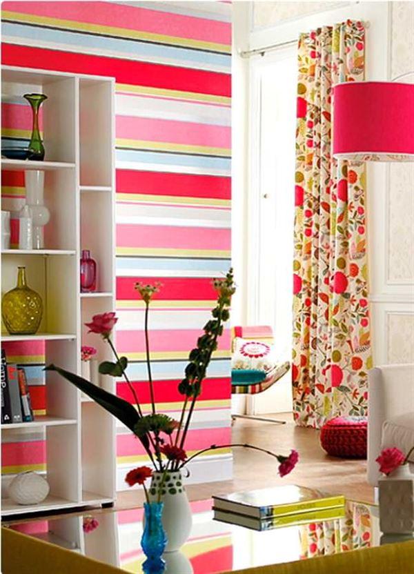 Çizgili Duvar Kağıdı Modelleri Ve Renkleri 26