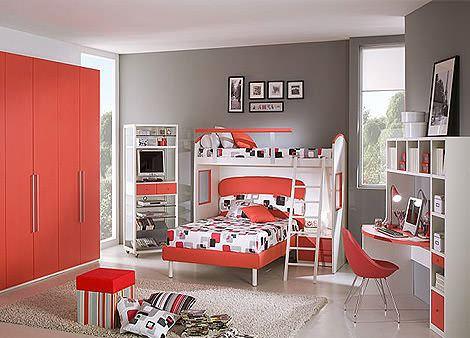 renkli modüler çocuk odası ranza