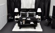 Siyah Beyaz Yatak Odası Dekorasyon Modelleri
