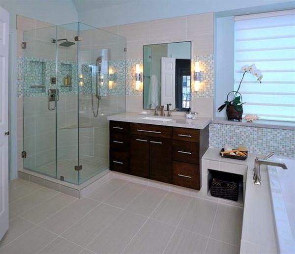 banyo ahsap dolap modeli