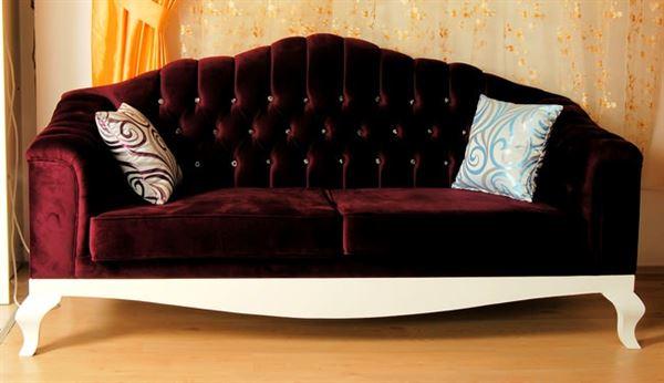 yeni tasarım modern koltuk takımı fikirleri - bordo murdum kapitoneli kanepe - Yeni Tasarım Modern Koltuk Takımı Fikirleri