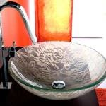 cam lavabo modelleri modern dekoratif yeni tasarım lavabo modelleri