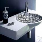 desenli-oval-beyaz-lavabo modern dekoratif yeni tasarım lavabo modelleri