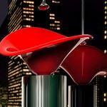 kirmizi-geometrik-lavabo modern dekoratif yeni tasarım lavabo modelleri