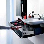 banyo dolapları - luks siyah cekmeceli banyo dolabi 150x150 - Modern Siyah Lake Banyo Dolap Modeli