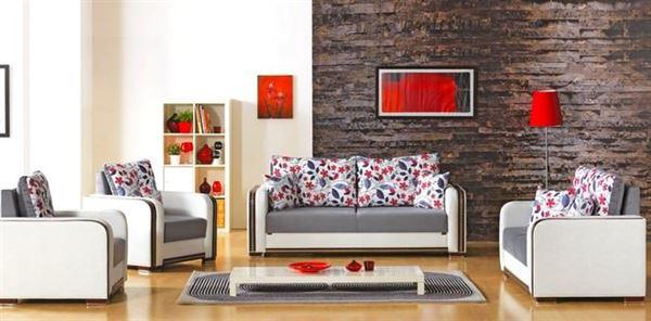 Meşe Mobilya Modern Çiçek Desenli Koltuk Modelleri 3