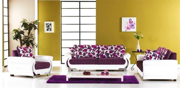 Meşe Mobilya Modern Çiçek Desenli Koltuk Modelleri 8