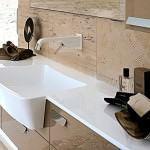 modern-beyaz-kare-lavabo modern dekoratif yeni tasarım lavabo modelleri