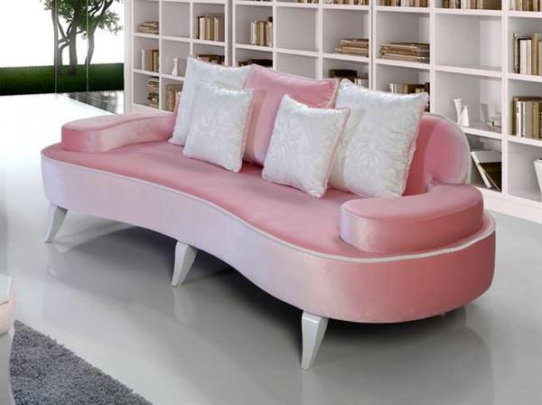 yeni tasarım modern koltuk takımı fikirleri - pembe krem ilgi cekici kanepe - Yeni Tasarım Modern Koltuk Takımı Fikirleri