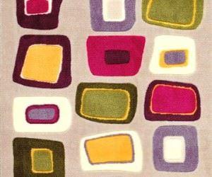 Saray Jel Tabanlı Halı Koleksiyonu Geometrik Desenler