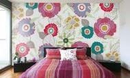 Modern Renkli Ve Desenli Yatak Odası Duvar Kağıtları