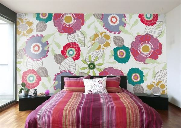 Modern Renkli Ve Desenli Yatak Odası Duvar Kağıtları 11